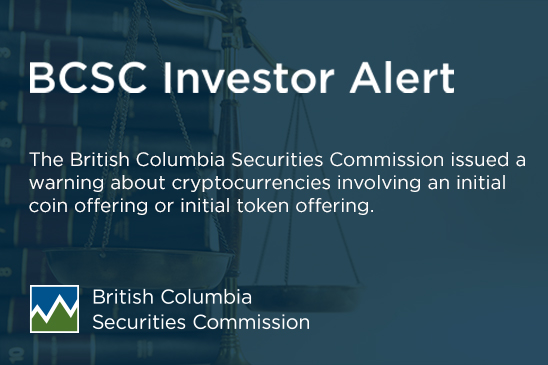 Investor Alert: Cryptocurrencies