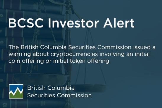 Investor Alert: Cryptocurrencies