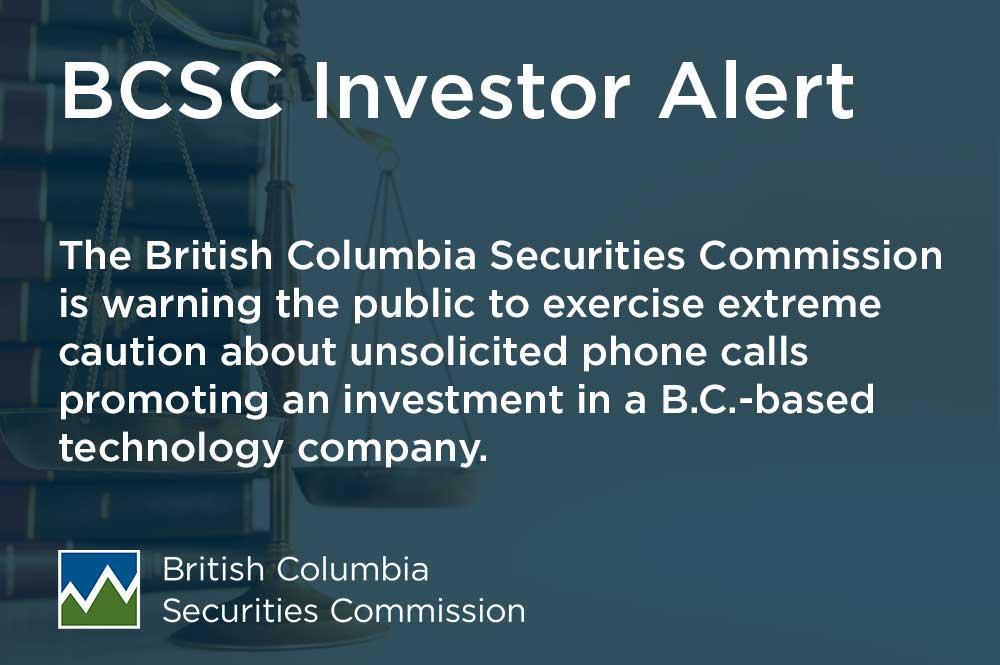 Investor Alert: High-pressure phone calls